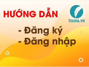 TOLIHA.VN - Hướng dẫn đăng ký tài khoản học trực tuyến